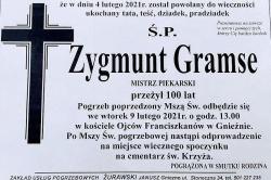 Zmarł Zygmunt Gramse. Mistrz Piekarski przeżył 100 lat
