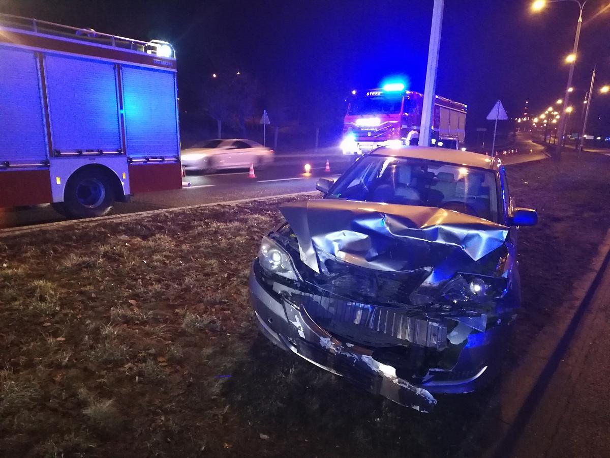 Jechała ul. Poznańską pod prąd - spowodowała wypadek! Prawdopodobnie była pijana