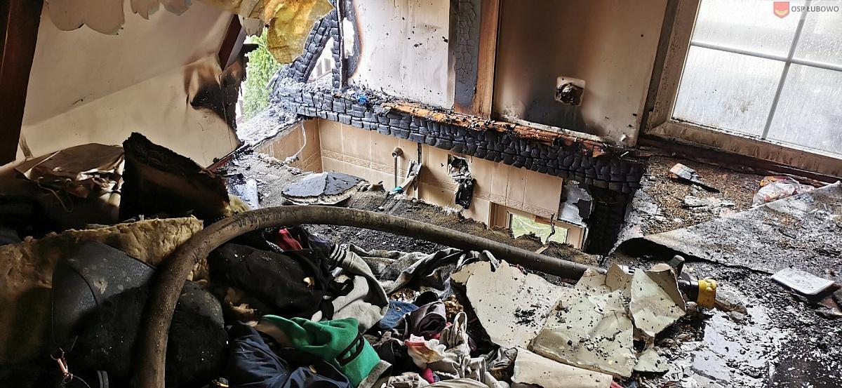 Pożar domku letniskowego w Imielnie