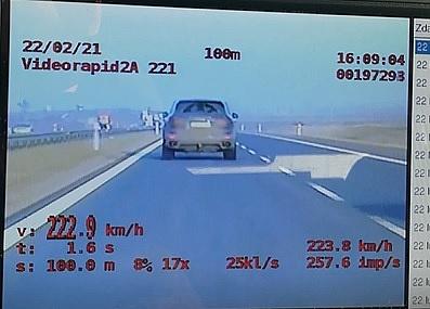 Jechał ponad 220 km/h na S5