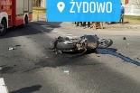Zderzenie motocyklisty z samochodem osobowym w Żydowie! 4 osoby przewiezione do szpitala!