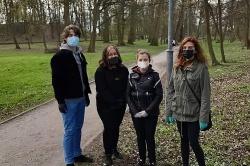Młoda Lewica sprzątała Park Miejski w Gnieźnie