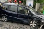 Groźnie wyglądające zderzenie dwóch samochodów w Pawłowie