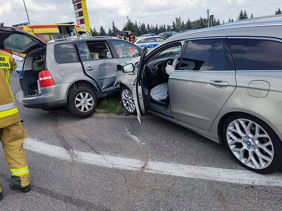 Wypadek na skrzyżowaniu ul. Gdańskiej i Trasy Zjazdu Gnieźnieńskiego