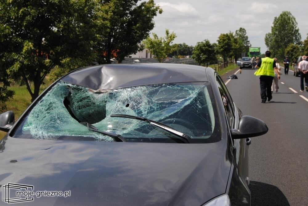 Śmiertelny wypadek Trzemesznie - rowerzysta nie żyje!