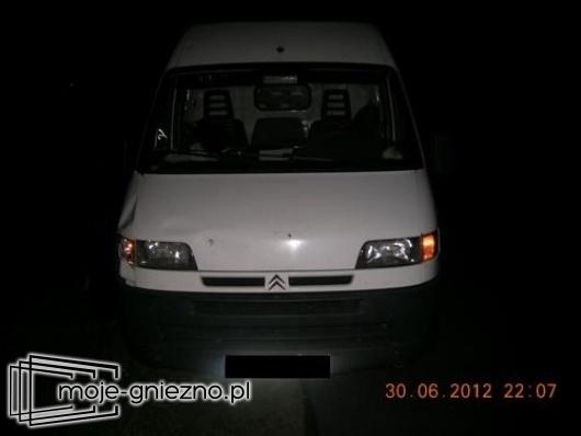 Wypadek drogowy w Skorzęcinie