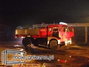 Nocny pożar w Modliszewku