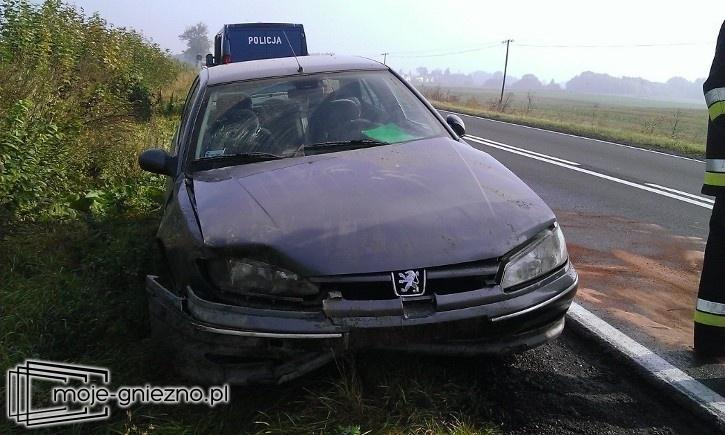 Porzucone auto na krajowej 15-tce