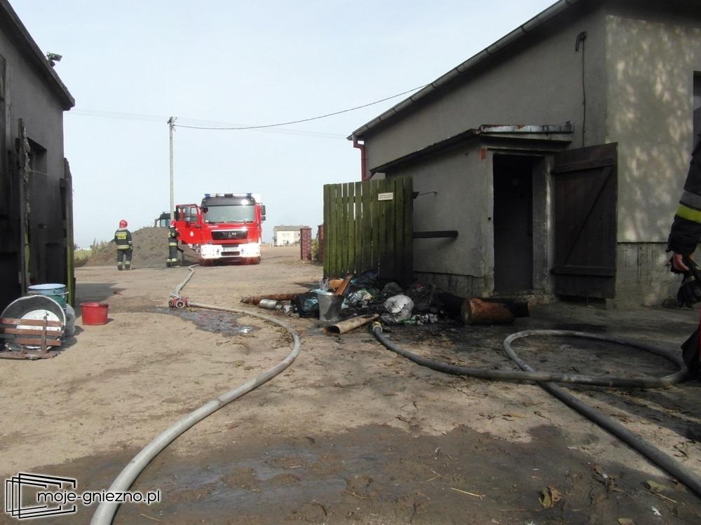 Pożar piwnicy na Osińcu
