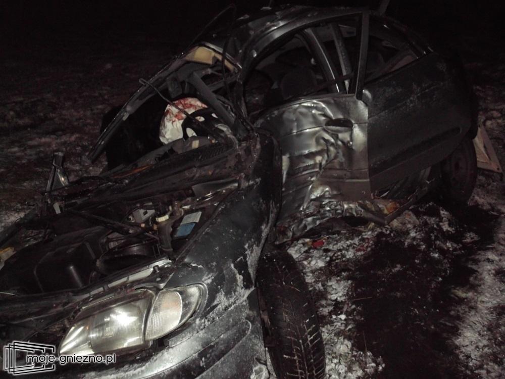 Wypadek na drodze Malenin - Witkowo. Kierowca uwięziony w pojeździe!