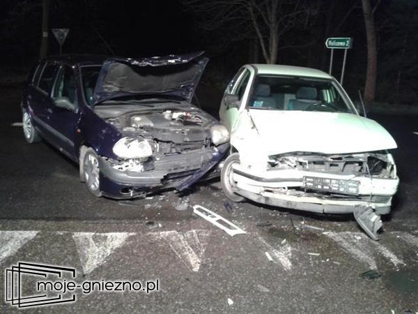 Wypadek na drodze Gniezno - Kiszkowo. Strażacy szukali kierowcy w lesie!