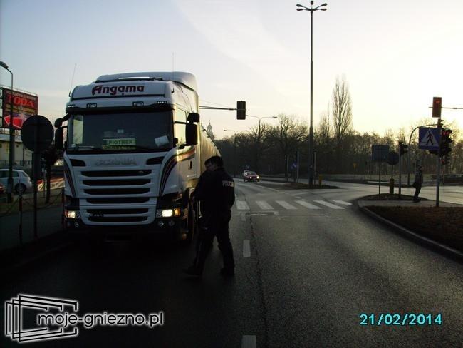 Zderzenie ciężarówek na drodze krajowej nr 5