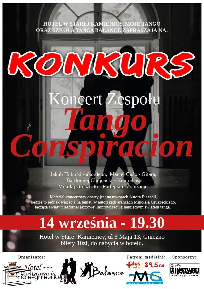 Wygraj zaproszenie na koncert zespołu Tango Conspiracion