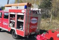 Ewakuacja zakładu i pożar hałdy śmieci w Lulkowie