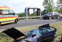 Wypadek w Trzemesznie! Jedna osoba w szpitalu