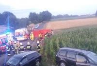 Sześć osób poszkodowanych w wypadku w Ruchocinie