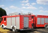 Pożar ścierniska w Dziekanowicach