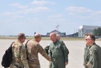 Wizyta amerykańskiego Dowódcy Lotnictwa Bojowego w Powidzu