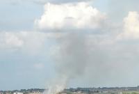 Pożar ścierniska w Rybnie Wielkim