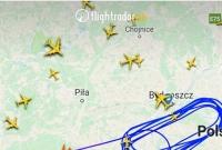 Samoloty F-16 - tankowanie w powietrzu nad Gnieznem