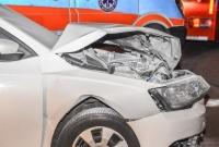 Wypadek na skrzyżowaniu ul. Witkowskiej i Kadłubka