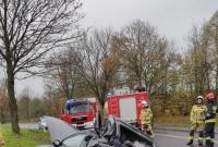 Wypadek na drodze Gniezno - Kłecko! Jedna osoba w szpitalu!