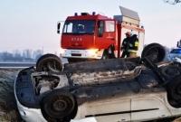 Dachowanie w Moraczewie! Jedna osoba w szpitalu