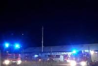 Pożar na terenie zakładu produkcji mebli