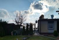 Pożar na terenie ogródków działkowych w Gnieźnie