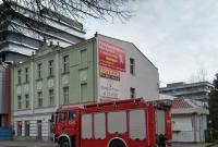 Strażacy uratowali szpaka, który wpadł w rynnę