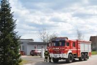 Pożar lakierni w Jankowie Dolnym