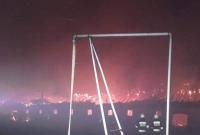 Duży pożar na granicy powiatów gnieźnieńskiego i wągrowieckiego