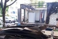 Remont spalonego sklepu przy ul. Budowlanych. Z lokalu zostały zgliszcza