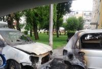 Na ul. Budowlanych spłonęły samochody