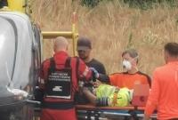 Mężczyzna spadł z wysokości! Do szpitala zabrał go śmigłowiec LPR
