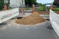 Uszkodzenie drogi powiatowej nr 2152P w miejscowości Dalki
