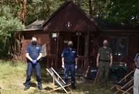 Wizyta Policji w obozie harcerskim