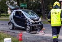 Zderzenie trzech samochodów w Witkowie