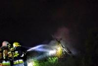 Pożar przy ul. Dworcowej w Witkowie