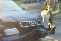 Wypadek na skrzyżowaniu w Grotkowie! Jedna osoba w szpitalu
