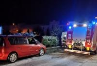 Pożar samochodu w Kłecku