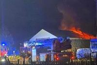 Pożar w Cielimowie! Spłonął garaż i samochód ciężarowy!