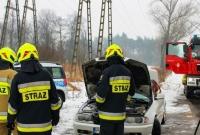 Pożar samochodu w Żydowie