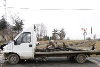Cieżarówka wjechała pod lokomotywę! Kierowca nie zastosował się do znaku STOP