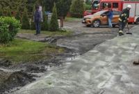 Wypadek w Komorowie! Ciężarówka czołowo uderzyła w drzewo!