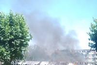 Pożar wiaty śmietnikowej na os. Orła Białego w Gnieźnie