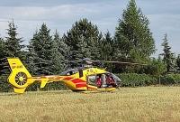 Wypadek w Lubochni! Poszkodowanego mężczyznę zabrał śmigłowiec LPR!