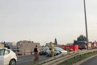 Wypadek na Trasie Zjazdu Gnieźnieńskiego! Kolejne auto rozbite na barierach