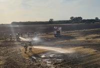Pożar ścierniska, słomy i balotów w Michalczy