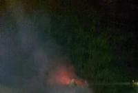 Pożar samochodu w Łopiennie
